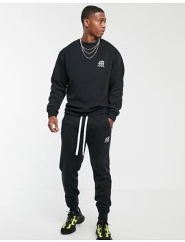 Boohoo Man Aesthetics Loose Fit Heavyweight Sweater In Black by Boohoo Man
