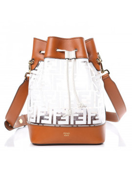 Fendi Tpu Ff Calfskin Grande Mon Tresor Bucket Bag Brown by Fendi