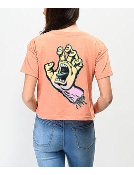 Santa Cruz Fade Hand Peach Crop T Shirt by Santa Cruz Skate