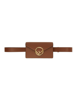 Brown 'f Is Fendi' Belt Bag by Fendi