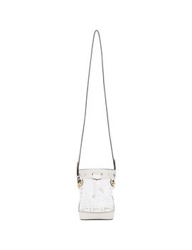 White Pvc 'f Is Fendi' Mon Tresor Bucket Bag by Fendi