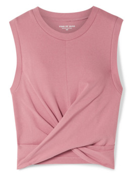 Anne Marie Cropped Twisted Stretch Cotton Jersey Tank by Year Of Ours
