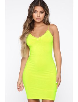 Wish You The Best Slip Dress   Neon Lime by Fashion Nova