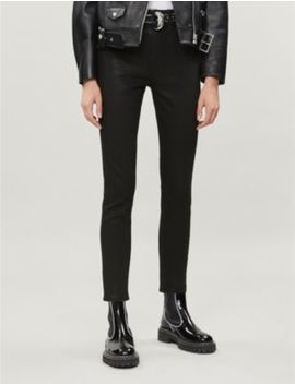 Nina Skinny High Rise Coated Jeans by Rag & Bone