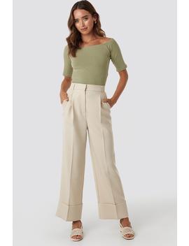Folded Pants Beige by Na Kd Trend