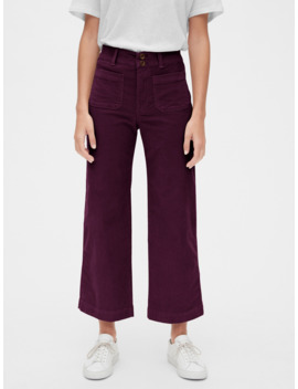 High Rise Mariner Wide Leg Cords by Gap
