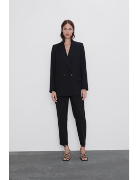 Double Breasted Buttoned Blazer Blazerswoman by Zara