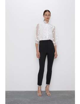 Polka Dot Shirt With Bow View All Shirts by Zara