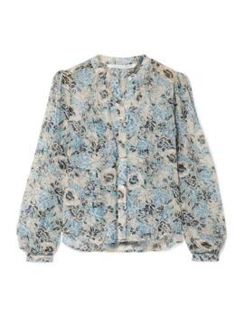Ashlynn Floral Print Silk Chiffon Blouse by Veronica Beard