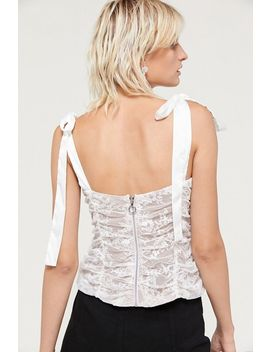 For Love & Lemons Dolly Lace Bustier Top by For Love &Amp; Lemons