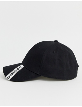 Asos Design Baseball In Black With 'the Ending' Embroidered Tape by Asos Design