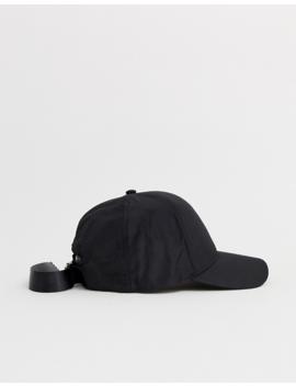 Asos Design Black Baseball Cap With Clasp Detail by Asos Design