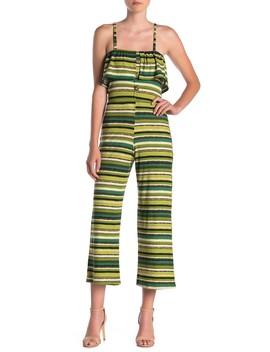 Striped Popover Jumpsuit by Velvet Torch