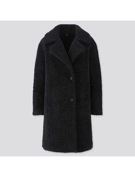 Women Pile Lined Fleece Tailored Coat by Uniqlo