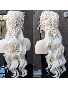 Daenerys Targaryen   Khaleesi   Mother Of Dragons   Season 8 Braided Synthetic Blonde Lace Front Wig by Etsy