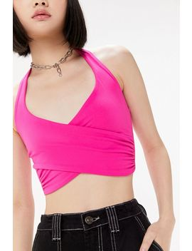 Uo Crisscross Cropped Halter Top by Urban Outfitters