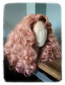 Retro Inspired Pink Wig, With Lace Front by Etsy