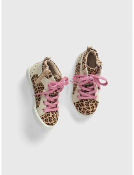 Toddler Leopard Hi Top Sneakers by Gap