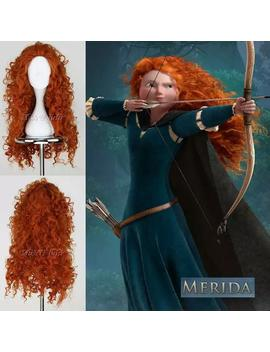 Free Shipping Fashion Brave Merida Costume Wig Curly Wavy Orange Hair Cosplay Party Long Wig by Etsy