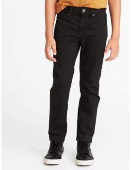 Karate Built In Flex Max Never Fade Black Jeans For Boys by Old Navy