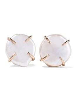 14 Karat Gold Pearl Earrings by Melissa Joy Manning