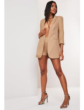 camel-co-ord-tailored-blazer by missguided