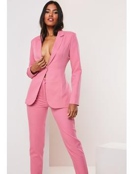 Pink Co Ord Skinny Classic Blazer by Missguided
