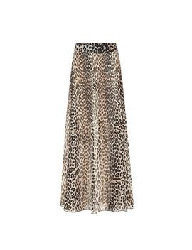 Leopard Print Maxi Skirt by Ganni