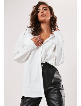 White Poplin Extreme Oversized Shirt by Missguided