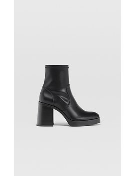 High Heel Boots With Stretch Legs by Stradivarius