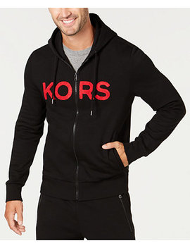 Men's Logo Fleece Full Zip Hoodie, Created For Macy's by General