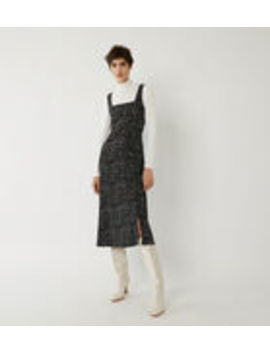 Ditsy Print Button Side Midi by Warehouse