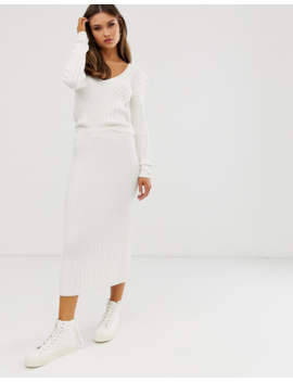 Asos Design Co Ord Jumper In Moving Rib by Asos Design