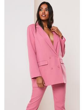 Pink Co Ord Double Breasted Oversized Blazer by Missguided