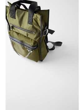 Nylon Backpack Tote Bag Bagstrf by Zara