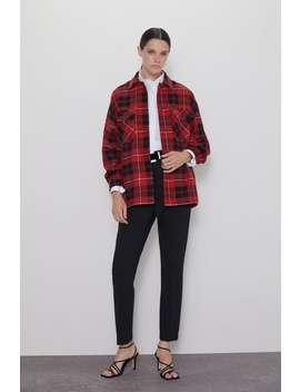 Check Overshirt Jacketswoman by Zara