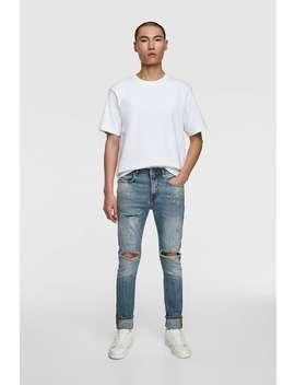 Skinny Jeans With Paint Splatter  Jeansman Sale by Zara