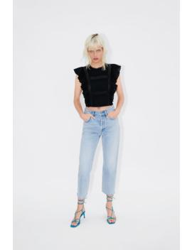 Ruffled Pintuck Top Topswoman by Zara