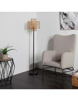 Cyndi Rattan Floor Lamp by Generic