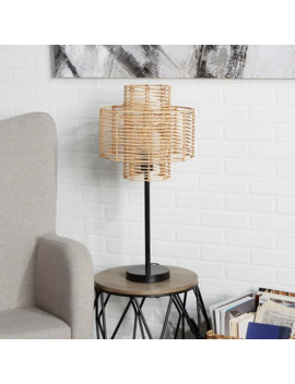 Cyndi Rattan Table Lamp by Generic
