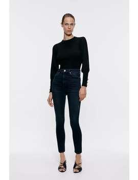 Night Blue Black Zw Premium '80 S High Waist Jeans High Waist Jeans Woman by Zara