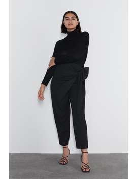 Crossover Bow Trousers View All Trousers Woman by Zara