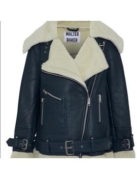 Lambskin Leather Biker Jacket by Walter Baker