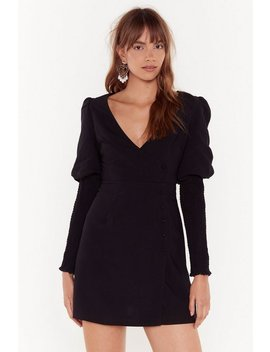 Guess What We Shirred Wrap Mini Dress by Nasty Gal