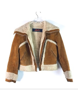 Vintage Leathers By Am Be Suede Shearling Jacket by Vintage