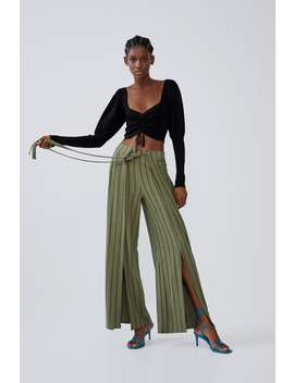 Tied Pareo Trousers View All Trousers Woman by Zara