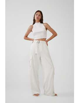 Satin Cargo Trousers View All Trousers Woman by Zara