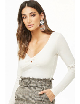 Ribbed Knot Front Top by Forever 21