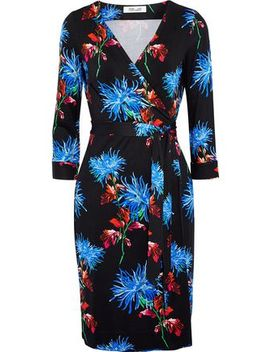 New Julian Printed Silk Jersey Wrap Dress by Diane Von Furstenberg