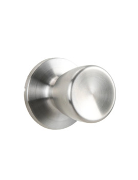 Gatehouse Gallo Brushed Stainless Steel No Deadbolt Passage Door Knob Single Pack by Lowe's